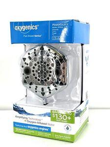 OXYGENICS PURE SHOWER GENIUS 89246 Chrome Fixed 7 Settings Shower head NIB