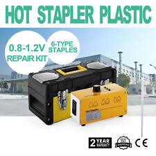 600pc Hot Stapler Plastic Repair Kit Welding Staple Gun Bumper Fairing Auto Tool