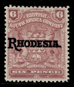 RHODESIA SG106, 6d reddish purple, M MINT. Cat £10.