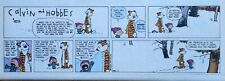 Calvin and Hobbes by Watterson - color Sunday comic page - VFn - Dec. 30, 1990
