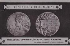 A2870) REPUBBLICA DI SAN MARINO CARTOLINA CON MEDAGLIA COMMEMORATIVA DELL'ARENGO