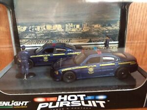 1/64 Greenlight Hot Pursuit Diorama Nevada Highway Patrol Dodge Chargers Kitbash