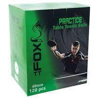 Fox Tt Practice Table Tennis Balls (pack Of 120) - White - Bag 120 Zipped Carry