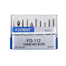 Dental Diamond Burs FG-112 Crown Preparation Anterior Teeth F High Speed AZ  ag