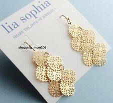 "Lia Sophia ""Lacey"" Gold Tone Earrings"