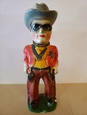 Vintage 1950 Lone Ranger Chalkware Statue Multicolored Carnival Prize