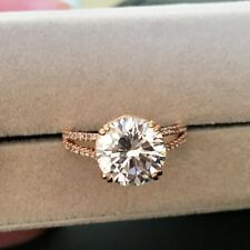 18K Rose Gold Plated Made With Swarovski Crystal Brilliant Cut Luxury 4 Ct Ring