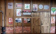 Assorted garage prints, signs 6 for 1/18 scale. For diorama + BIN bonus