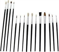 The Box 15pc Artists Paint Brush Set - Variety of Small & Round Tipped