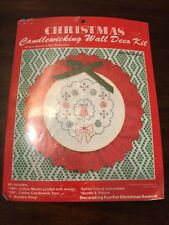 Vintage Wangs International Christmas Candlewicking Wall Deco Kit 1983 WREATH