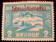 ICELAND # Facit Tj 71 2 Kronur 1930 Millenary of Parliament MH.OFFICIAL.Rare.