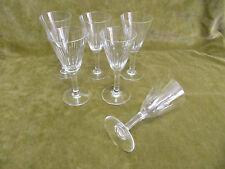 """5 verres à vin blanc cristal Baccarat """"lances"""" (baccarat white wineglasses)"""