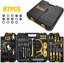 Tool Set, TECCPO 97PCS Household Tool Kit, Hand Tool Kit with Hammer, Wrenches,