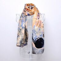 100% pure silk scarf, Gustav Klimt's 'The Kiss'. Xmas/Gift wrapping available