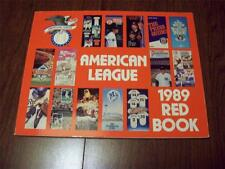 1989 American League Red Book ~ Media/Stats Guide