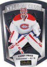 16/17 O-Pee-Chee Platinum NHL Logo Crest Die-Cut Carey Price #15 Canadiens