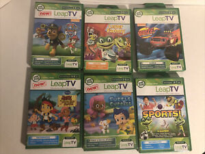 Lot Of 6 Leap Frog Leap TV Games Sports etc. 3 -5 Years  Leapfrog LeapTV Bundle
