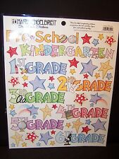 Creative Imaginations by Mary Engelbreit 8 x 10 Sticker Sheet School Phrases