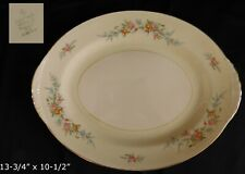 "Homer Laughlin Ferndale OVAL SERVING PLATTER 13"" have more items to set"
