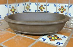 "Yixing 13"" High Quality Unglazed Bonsai Pot Bonsai Pots Shallow Oval Bonsai Pot"