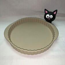 Stoneware Earthenware Round Tart Quiche Pie Flan Baking Pan Plate Dish