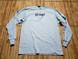 NEW Pittsburgh Steelers Long Sleeve Shirt Adult M Football Cotton Football Mens