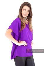 Maglie e camicie da donna senza maniche Camicetta viola