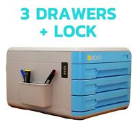 iBoxQ Office Desk Drawers Organizer with a Combination Lock – Keep Your Docume