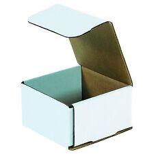 50 4375 X 4375 X 2 12 Small White Cardboard Carton Mailer Shipping Box Boxes