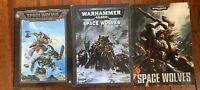 3 Vintage Space Wolves Codex Games Workshop Warhammer 40k Space Marines