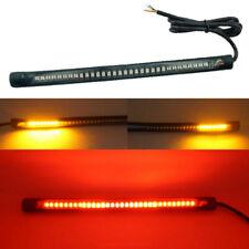 32 LED Motorcycle Turn signal Blinkers Strip light License Plate Light Flexible