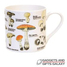 Mushroom Ecologie China Illustrated Drinks Mug Nature Lovers Novelty Gift