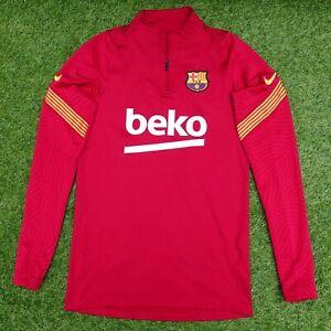 NIKE FCB Barcelona Football Club 1/4 Zip Training Top Mens X-Small