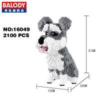 Balody Schnauzer Grey Dog Pet Animal DIY Diamond Mini Building Nano Block Toy