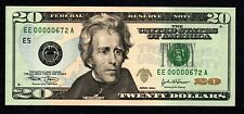 Fancy LOW # EE00000672A $20 Birth Month/ Year note, Uncirculated June 1972 6/72