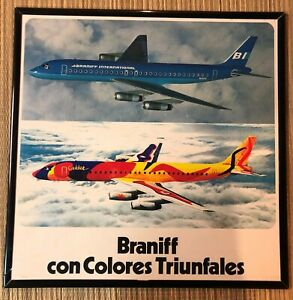 Vintage & Rare Braniff International Airlines DC8 Calder Poster in Spanish