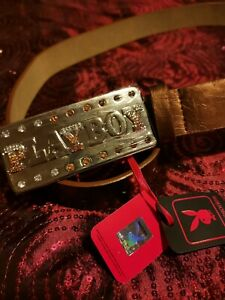 """Authentic Playboy Collection Belt - Copper Shimmer - 35""""-43""""."""