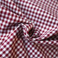 Baumwollstoff Check Karo Vichy Bordeaux Weiß 5mm Groß Stoffe Kariert Baumwolle