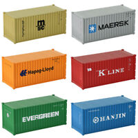 6pcs Different HO Scale 20ft Container 1:87 Shipping Container Freight Car