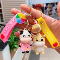 Cute Cow Doll Keychain Lovers Gifts Car Girl Bag Pendant Accessories Keyring