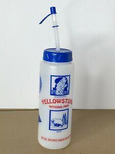 Vintage YELLOWSTONE National Park Sports Squeeze Bottle 32Oz Bison Bear Faithful