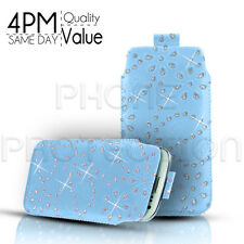 Diamond Premium PU Leather Pull Tab Pouch Case For Various Sony Ericsson Phones