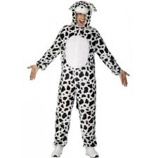 Smiffys Adult Unisex Dalmatian Costume Jumpsuit With Hood Party Animals Serio
