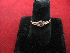 10K Gold Ruby Ladies Ring - 2mm x 4mm Marquise