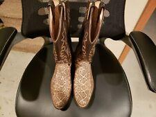 Dan Post 5204202 Exotic Rattlesnake Skin Cowboy Boots Men's Size 10.5 Free S/H