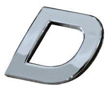 LETTERA ADESIVA D BIADESIVA CROMATA TRIDIMENSIONALE 3D DIAMOND 2X3CM AUTO TUNING
