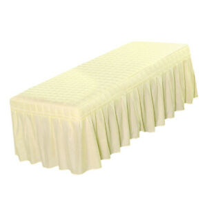 Cosmetic Linen Massage Table Skirt Beauty Bed Sheet Cover with Bedskirt