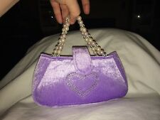 Plush Pet Carrier/Purse Purple and Pearls 'Loveable' and Heart