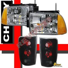 1995 1996 1997 Chevy Blazer S10 LT LS Headlights Chrome & Tail Lights Dark Smoke