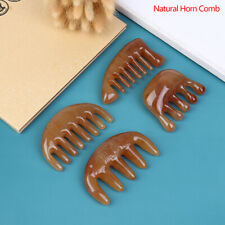1×Natural Ox Horn Pocket Comb Wide Toothed Comb SPA Massage Brush Hair Care hy